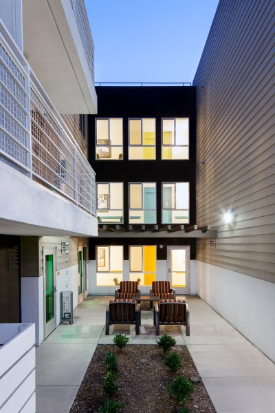 The Metro @ Compton Senior Apartments Exterior view